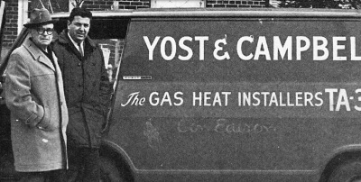 An old picture of a classic Yost & Campbell truck.